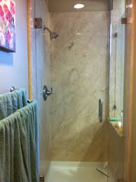 master shower with botticino classico marble shower panels and