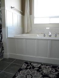 white paneled tub apron skirt bathroom remodel pinterest