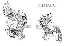Lego Chima Eris The Eagle Versus Worriz Wolf Coloring Pages