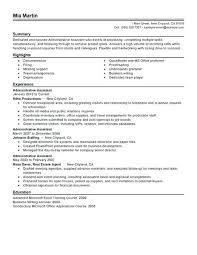 Professional Summary Resume Example For Administrative Assistant Feat A Examples Career