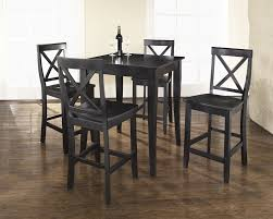 Alluring Decorating Ideas Using Rectangular Black Wooden Barstools And Rectangle Tables
