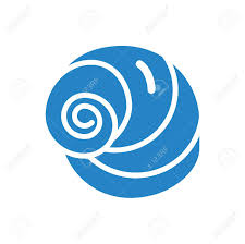 100 Sea Shell Design Icon Blue On White Background For Graphic And Web Design