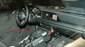 Porsche 911 Cabriolet spy shots show off the car s new interior