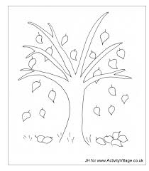 Tree Fall Without Leaves Coloring Page