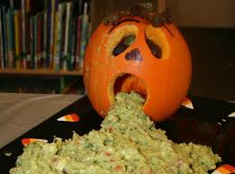 Pumpkin Guacamole Throw Up Cheese by 13 Deeply Disgusting Dishes Drinks U0026 Desserts For Halloween