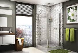 half wall shower no door modern bathroom design with oceanside gl