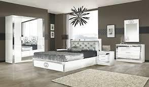 schlafzimmer italienische möbel modern hochglanz neu