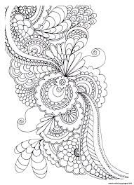 Adult Zen Anti Stress To Print Drawing Flowers Coloring Pages Download