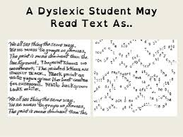 A Dyslexic Student May Read Text As