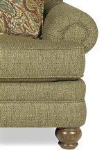 Craftmaster Sofa With Cognac Legs In Tolliver by Craftmaster 7281 Traditional Loveseat With Rolled Arms And Turned