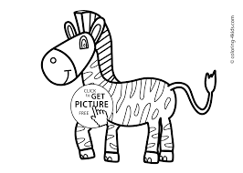 Zebra Animals Coloring Pages For Kids Printable Free