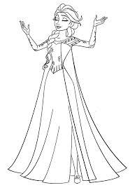 Elsa Coloring Page Photo