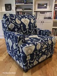 Cindy Crawford Denim Sofa Slipcover by Slipcover Made With Magnolia Java Ikat Navy Blue This Medium