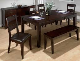 Dining Room Furniture Benches Of Goodly Table With Bench And Chairs Amazing