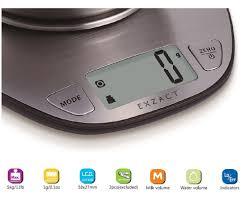 balance de cuisine avec bol exzact prime balance de cuisine électronique à grand écran avec