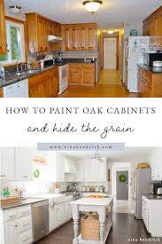 Painting Wood Kitchen Cabinets Ideas How To Paint Oak Cabinets And Hide The Grain Step By Step