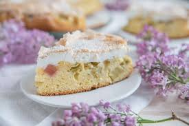 kuchen zum muttertag baiser rhabarberkuchen rezept