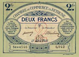 chambre de commerce bethune billets du xxème siècle les billets des chambres de commerce