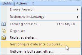 envoyer des réponses automatiques d absence du bureau dans outlook