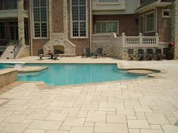 travertine and trex pool deck st louis search pool area