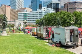 100 Food Trucks In Denver Colorado USAJune 9 2016 At The Civic Stock