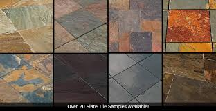 slate tile vs travertine vs porcelain flooring tiles comparison