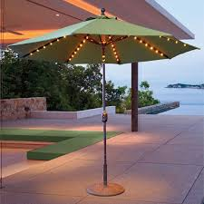 cool led patio umbrella galtech 9 auto tilt umbrella with led