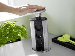 prise plan de travail cuisine prise escamotable kitchen cuisines aménagement et