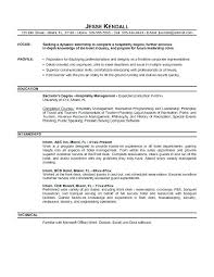 Sample Resume Objective Example Entry Level Statements For Finance