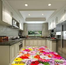 Colorful Flowers Daisy Wedding 00088 Floor Decals 3D Wallpaper Wall Mural Stickers Print Art Bathroom Decor