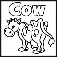 Farm Cow Coloring Page Printables For Kids Free Word Search Puzzles Pages And Other Activities