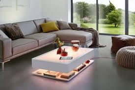 beleuchteter design couchtisch moree ora home led pro rgb fernbedienung