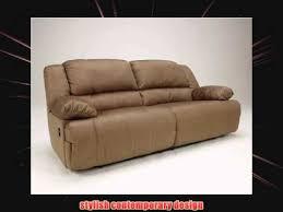 contemporary mocha hogan 2 seat reclining sofa youtube