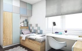 kleines kinderzimmer einzelbett pastellfarben schreibtisch