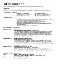 Business Administrator Resume