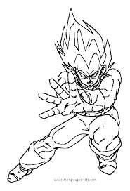 Vegeta More Free Printable Cartoon Character Coloring Pages