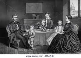 President Ulysses S Grant And Family At Home Circa 1869