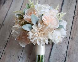 Rustic Wedding Bouquet Silk Bride Bridal