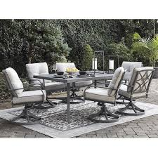 Signature Design By Ashley Donnalee Bay 7-Piece Outdoor Dining Set ... Klaussner Outdoor Delray 7piece Ding Set Hudsons Breeze Ding Chair Alinum Frame Harbour Suncrown Brown Wicker Fniture 5piece Square Modern Patio To Enjoy Lovely Warm Summer Awesome Patio Quay Chair By King Living Est Living Design Directory Room Charming Image Of For Hampton Bay Belcourt Metal With Walmartcom Bilbao Five Piece Falster Ikea I Love The Looks Of This Outdoor Ding Set Table 10 Easy Pieces Chairs In Pastel Colors Gardenista