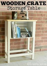 Wood Crate Storage Table FabArtDIY Wine Ideas And Projects