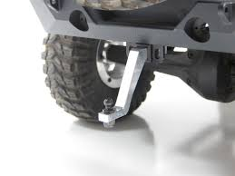 RC ROCK ARMOR - Aluminum XL Drop Hitch With Ball - Silver