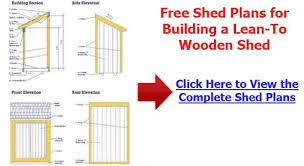 lean to shed plans building a lean to