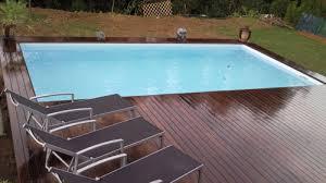 margelle piscine en bois construire sa piscine bois en kit rectangulaire hauteur 1m30