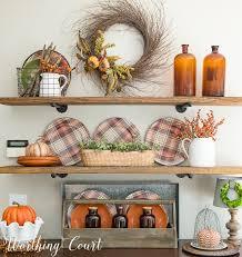 Shelf Decorating Ideas For Fall