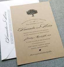 Amanda Charcoal Tree Recycled Kraft Wedding Invitation Sample