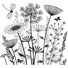Crafty Individuals Unmounted Rubber Stamp Summer Meadow Bullet