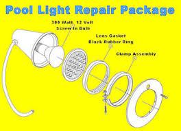 swimming pool spa light repair kit package bulb cl gasket seal