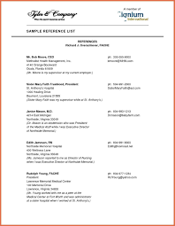 Professional Reference List Sample References Template 1293 X 1668