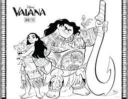 Vaiana Maui Vaiana Et Pua Coloriage Vaïana La Légende Du Bout Du