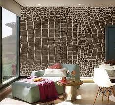 benutzerdefinierte 3d wandbilder dunkelbraun krokodilleder textur als tapete papel de parede wohnzimmer sofa tv wand schlafzimmer tapeten